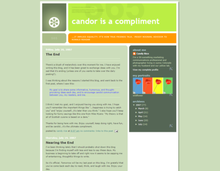 Candor is a Compliment Blog